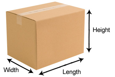 Cardboard box size guide