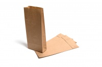 Brown Kraft Paper SOS Block Bottom Bags