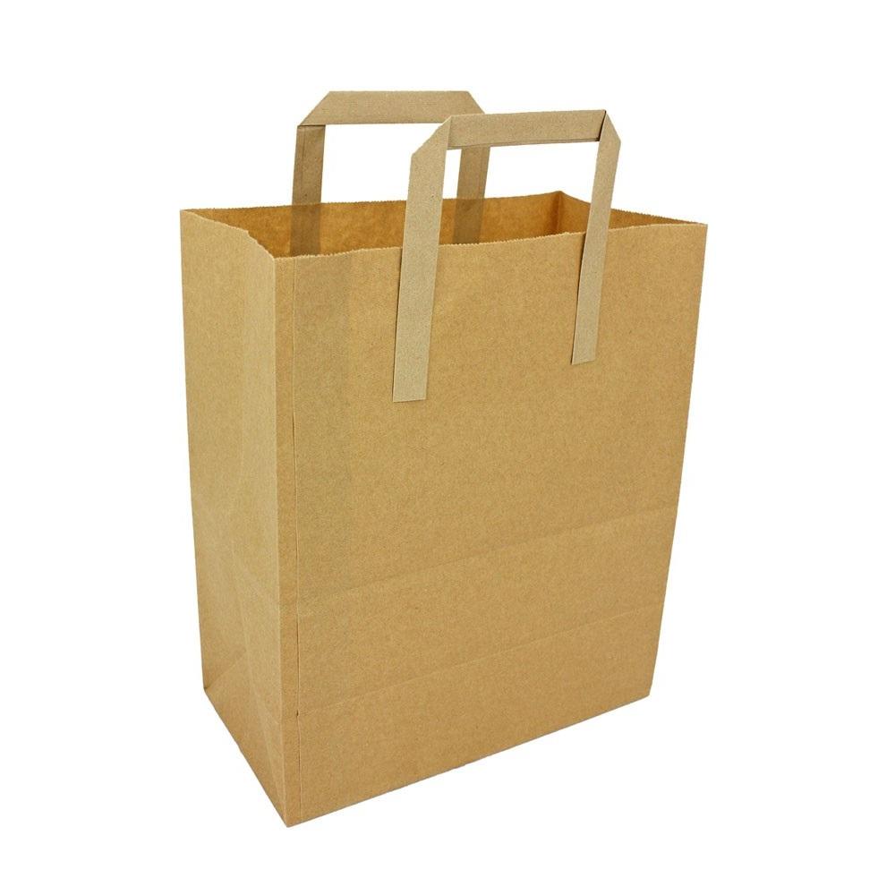 Brown Kraft Paper Carrier Bags Medium Your One Stop